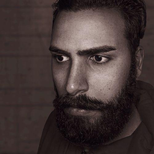 Portrait Beard Bearded Selfportrait EyeEm Best Shots EyeEm Blackandwhite First Eyeem Photo Bronze Sepia Black And White Black & White Person Male Man Myself