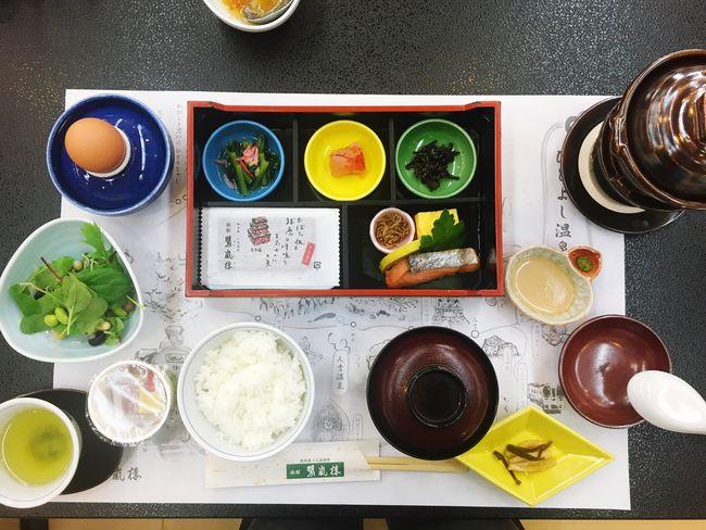 翌日の朝、露天風呂からの朝食(*˙꒳˙*)‧⁺✧︎* Breakfast Eating Yummy Yumyum( ˙༥˙ ) Taking Photos