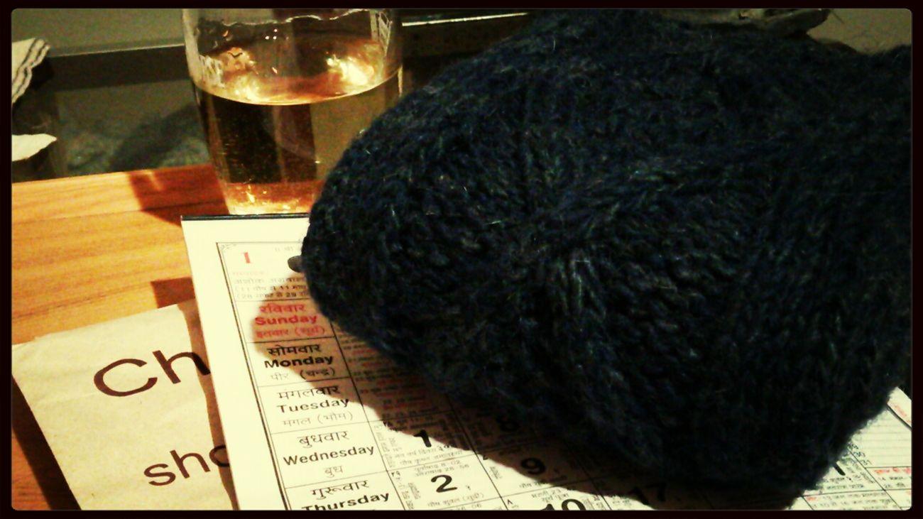 Wool Hemp Legwarmers Indigo