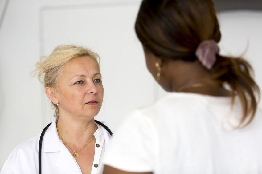 Nurse Women Reassuring Stethoscope  Reassurance Doctor  Medical Portrait Patient Good News Bad News