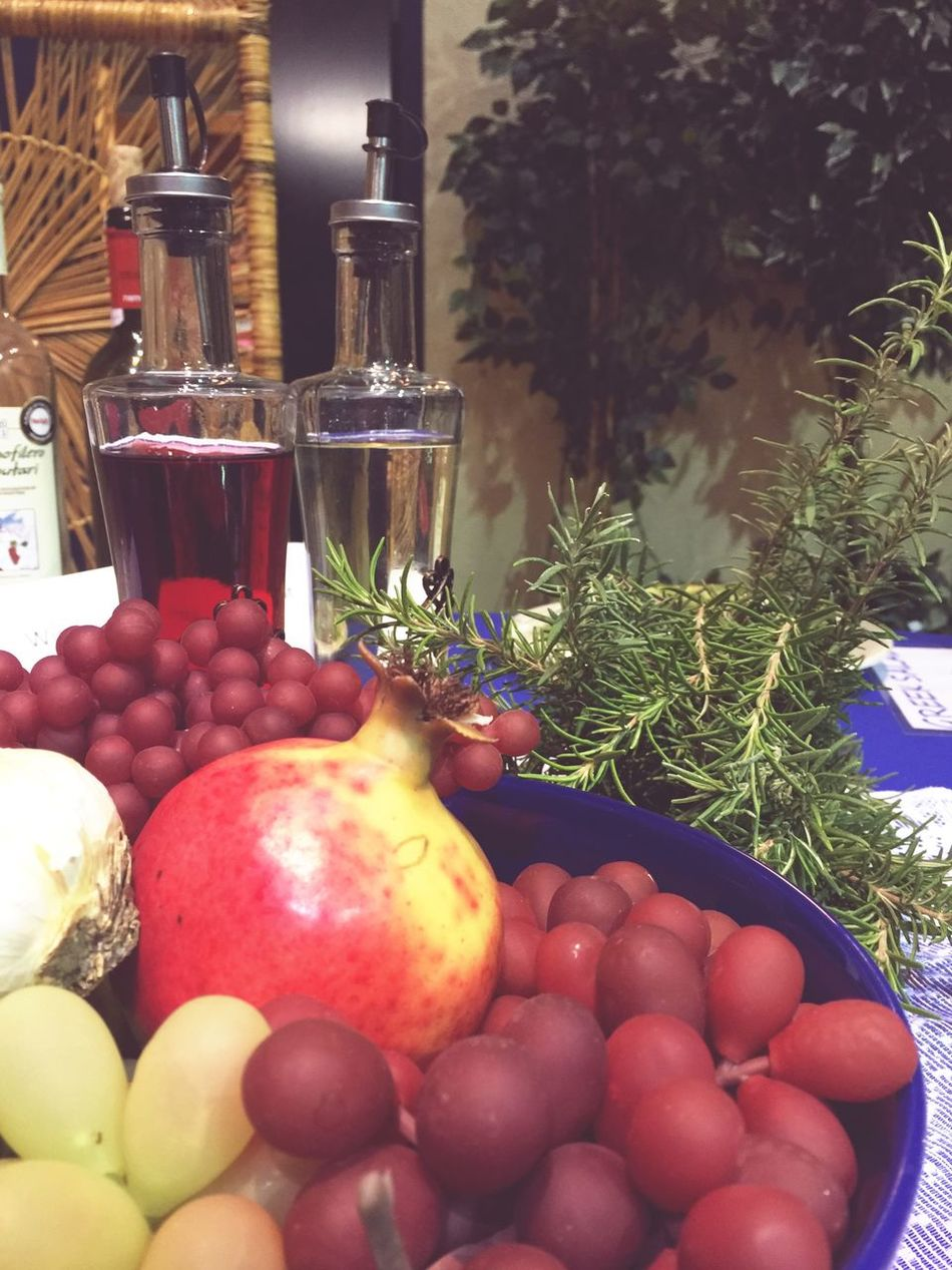 Mediterranean Food Food Vinegar Olive Oil Pomegranate Grapes Fruits Healthy Eating Healthy Healthy Food Organic Still Life