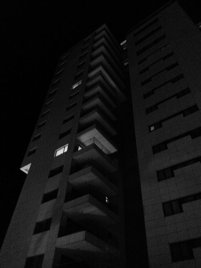 Big City Lights and Urban Geometry in Blackandwhite • Nightphotography and Geometric Shapes of Architecture in Black And White • EyeEm Best Shots - Black + White • Eye4black&white