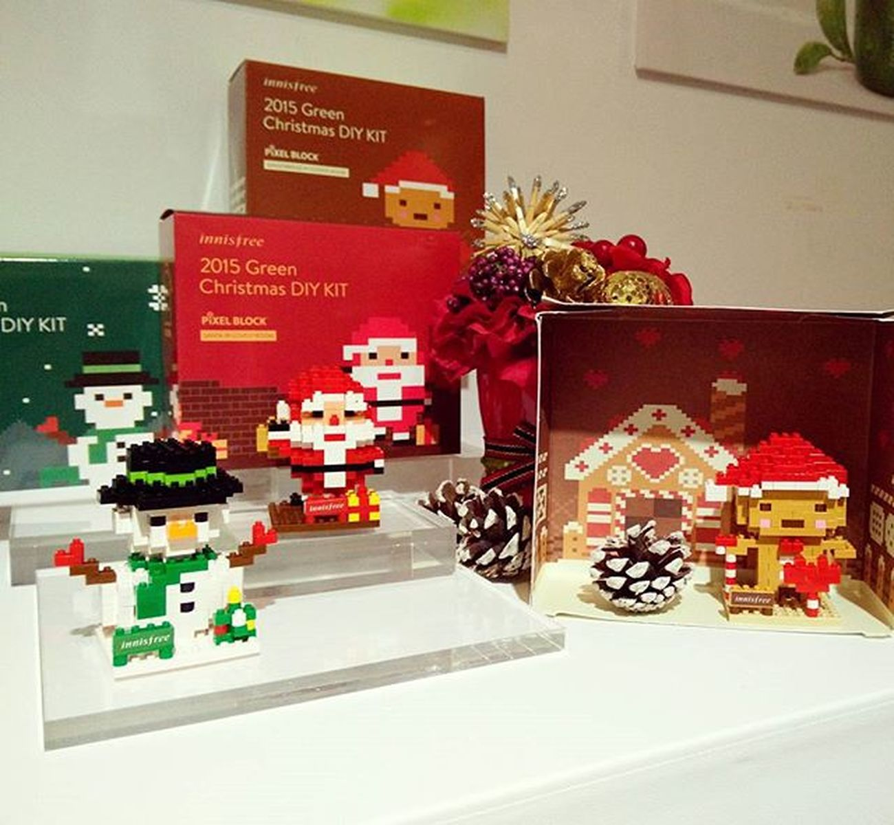 innisfree 2015 Green Christmas 綠色聖誕登場。今年的公益禮盒是小積木🎅,太可愛了!Innisfree Innisfreetw Greenchirstmas 이니스프리 Mobile01 愛曼達