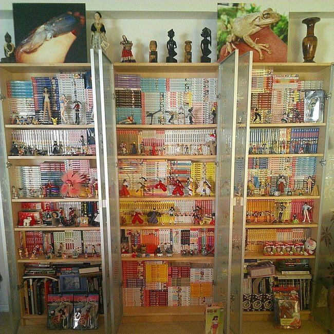 I collect 80s toys, true, but I HOARD manga. Manwha and manhua also moderately represented. (An unsolicited Shelfie .) Manga MangaLover Otaku Animefreak Animefigure Animefigures Anime Animelove Inuyasha Ranma Nogamenolife SwordArtOnline Shojo Shounen KAWAII Lovehina Attackontitan DeathNote Otakulife Deadman FairyTail Kirito Cowboybebop Animegirl animeworld