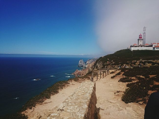 Half&half Nature End Of Europe Cabo Da Roca Portugal Is Beautiful Clouds And Sky Lighthouse Amazing Nature Beautiful Nature Edge Of The World The KIOMI Collection The Magic Mission