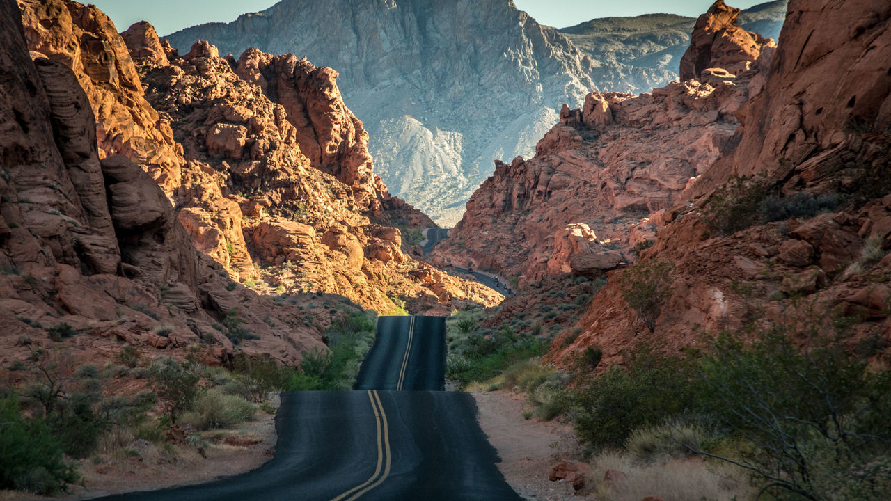 on the road II Asphalt Beauty In Nature Day Drive Drive And Shoot EyeEm Best Shots EyeEm Gallery Landscape Mountain Mountain Range Nature Nevada On The Road Outdoor Photography Outdoors Physical Geography Red Road Road Trip Scenics Sky USA Valley Of Fire The Great Outdoors - 2017 EyeEm Awards Let's Go. Together.
