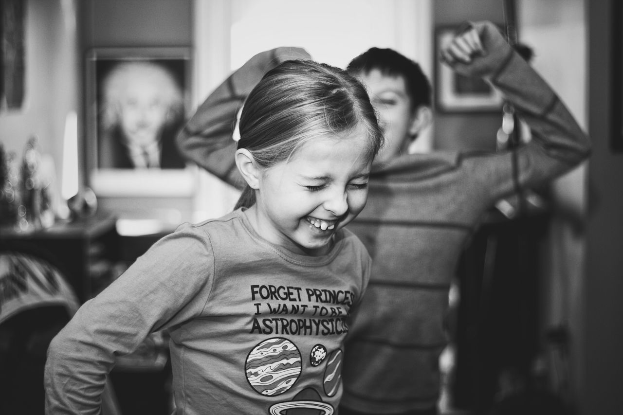 The Portraitist - 2016 EyeEm Awards Kids Being Kids Kids Cousins  Family VSCO Laughing Albert Einstein Playing Candid Black And White Monochrome Photography