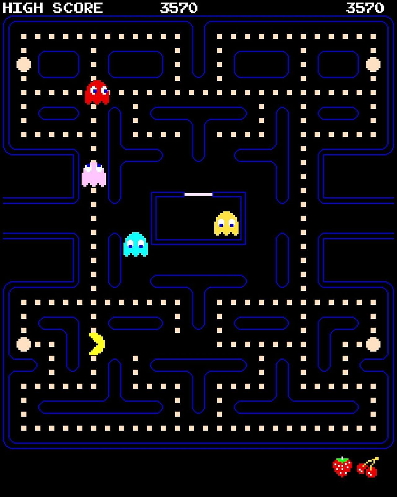 Technology Graph Computer Internet Pacman Pacman Games Technology Videogames Night Classic