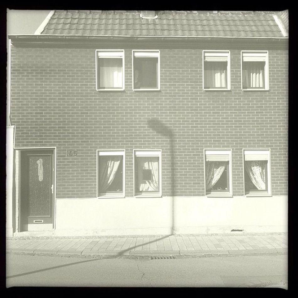165 Streetlamp Streetlight Home Door Shadow Germany Shade Window House Bw Deutschland Doorway Bonn