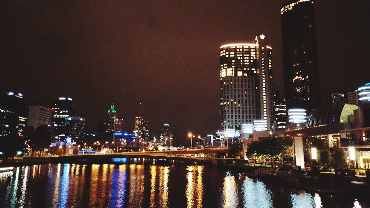 Night Photography Melbourne Skyline Water Reflections Night Lights Bridge Crown Casino Energy Weeknights The Street Photographer - 2016 EyeEm Awards The Great Outdoors - 2016 EyeEm Awards Moment Of Zen Cities At Night Battle Of The Cities