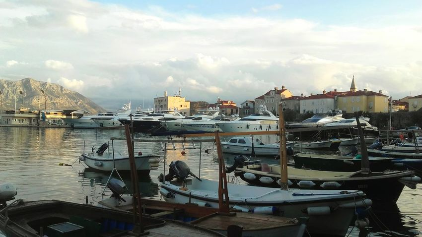 Sea Nautical Vessel Sailing Ship Outdoors Cloud - Sky Sky Water Budva Budva, Montenegro Relaxing Colors Blue Boat Reflections In The Water City Old City Day Sky And Couds Fresh Enjoying Life Likeforlike Like4like
