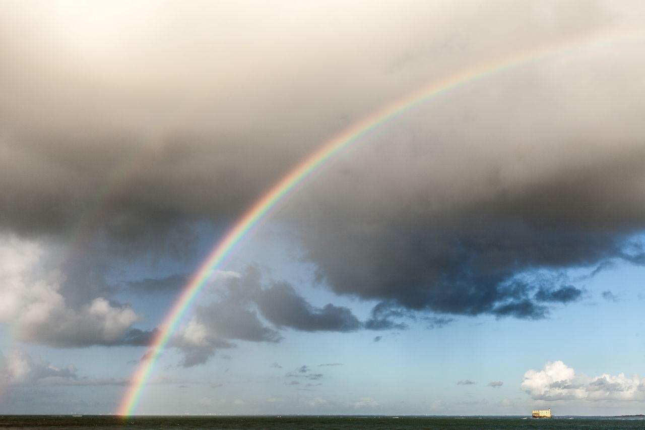 île d'Oléron - france Arc-en-ciel  Atlantic Atlantic Ocean Beach Boyardville Double Rainbow Fort Boyard Mer Ocean Océan Atlantique Plage Rainbow Rainbow Colors Rainbow Sky Rainbows Rainbow🌈 Sea