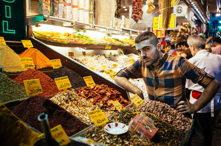 RePicture Travel Spice Bazaar Spices Food Stand Market Farmers Market Shop Salesman Sell Exotic