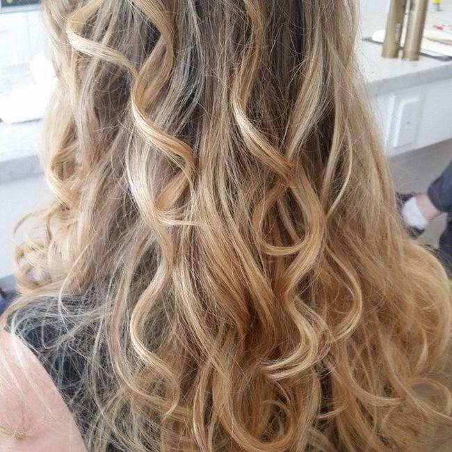 Fine textured hair with curls Patricialynnlaas Pre -OscarEvent PARTYHAIR2015 InspirationPhoto hair blondehairdontcare BBlogger hblogger @bangladesh