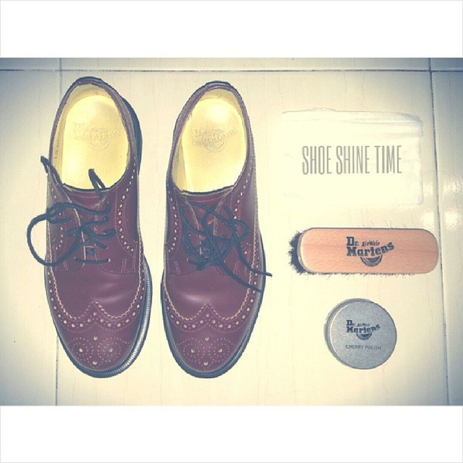 Shoe-shine. Docmart Drmartensmalaysia Wingtip Brogue redcherry