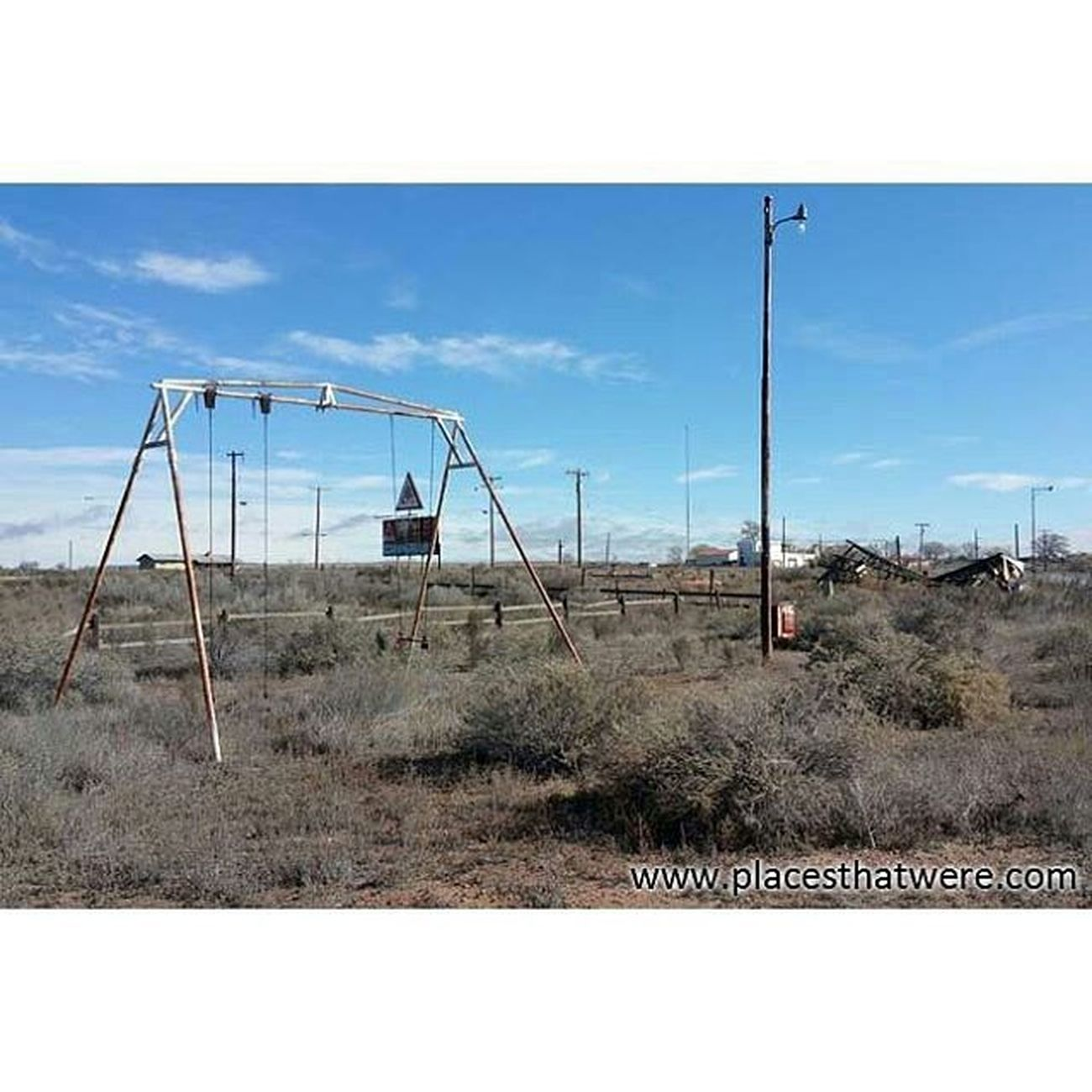 Desolate swingset Abandoned Abandonedbuilding Abandonedplaces Arizona Camping Decay Forgottenplaces Ghosttowns Hopi Mormons  Navajo Roadtrip Route66 Rt66 Ruins RuralExploration Rurex Urbanexploration Urbex