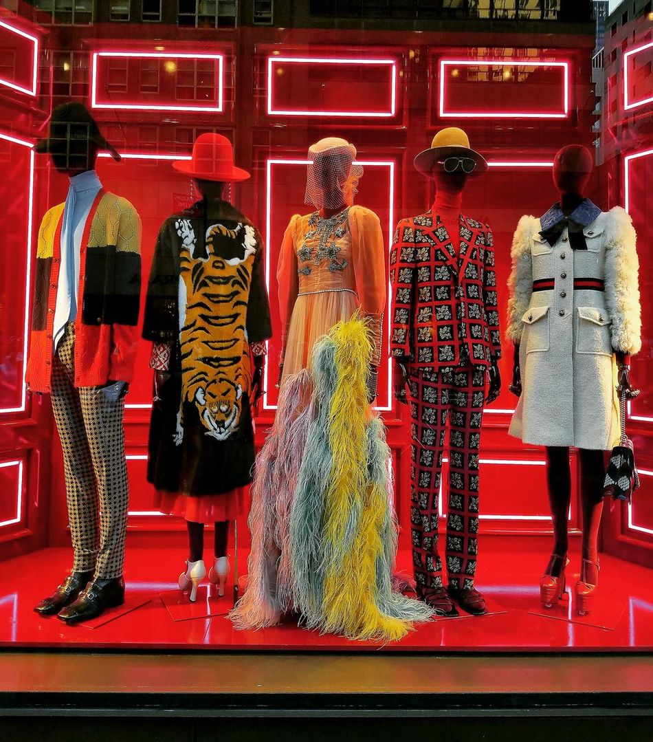 Variation Standing Human Representation Person In Front Of Multi Colored Choice Orange Color Vibrant Color Retail  Looking Collection TakeoverContrast Fashion