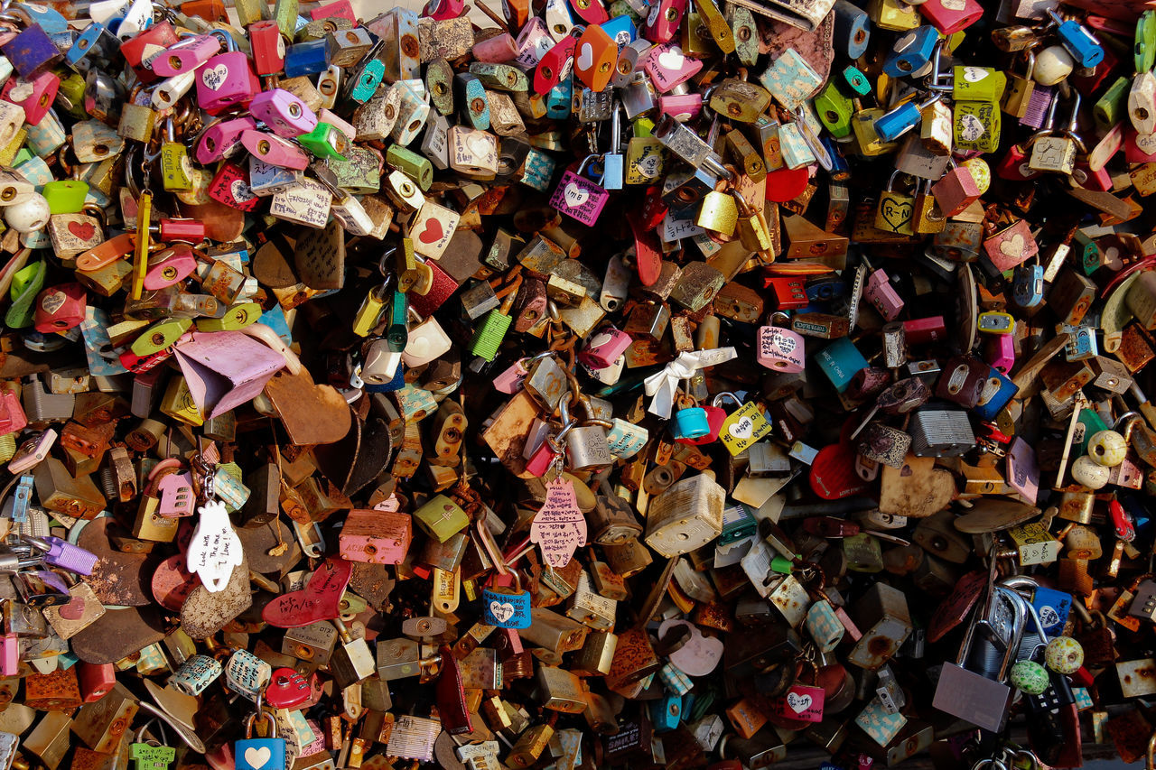 Abstract Famous Places Key Landmark Love Namsan Tower  No People Padlock Still Life Tourism Tourist Attraction