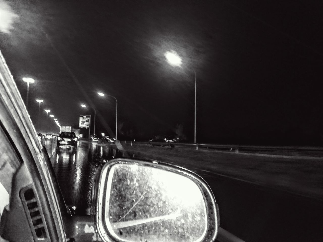 Car Illuminated Land Vehicle Night No People On The Highway Night Outdoors Road Sky Street Light Transportation