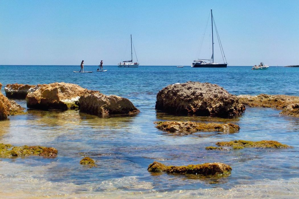 Plemmirio - Pillirina 🐠 Enjoying The Sun Sea Water Nature Nautical Vessel Outdoors Beauty In Nature Sailboat Scenics Sky Transportation Rock - Object Day Clear Sky Mast Tranquility Horizon Over Water Waterfront No People Enjoying Life Relaxation Relaxing Moments Relax Wave