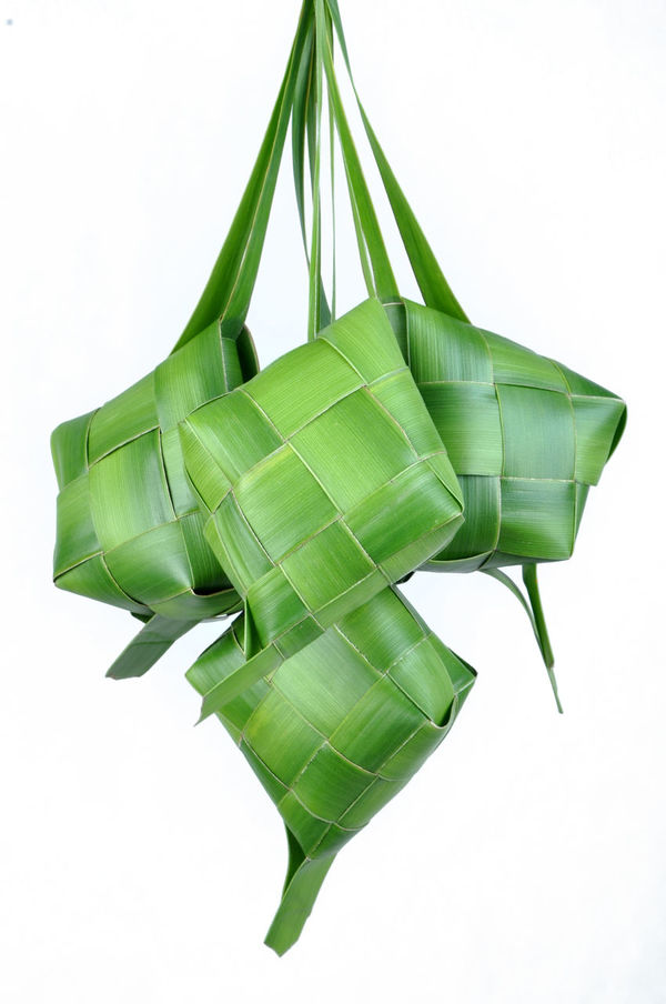 Ketupat - Rice Dumpling ASIA Closeup Container Culture Green Color Handmade Idul Fitri Ied Mubarak INDONESIA Indoor Ketupat Ketupat Lebaran Malaysia Nature No People Organic Food Packaging Palm Leaf Ramadan  Ramadhan Rice Rice Cake Studio Shot Woven Woven Pattern