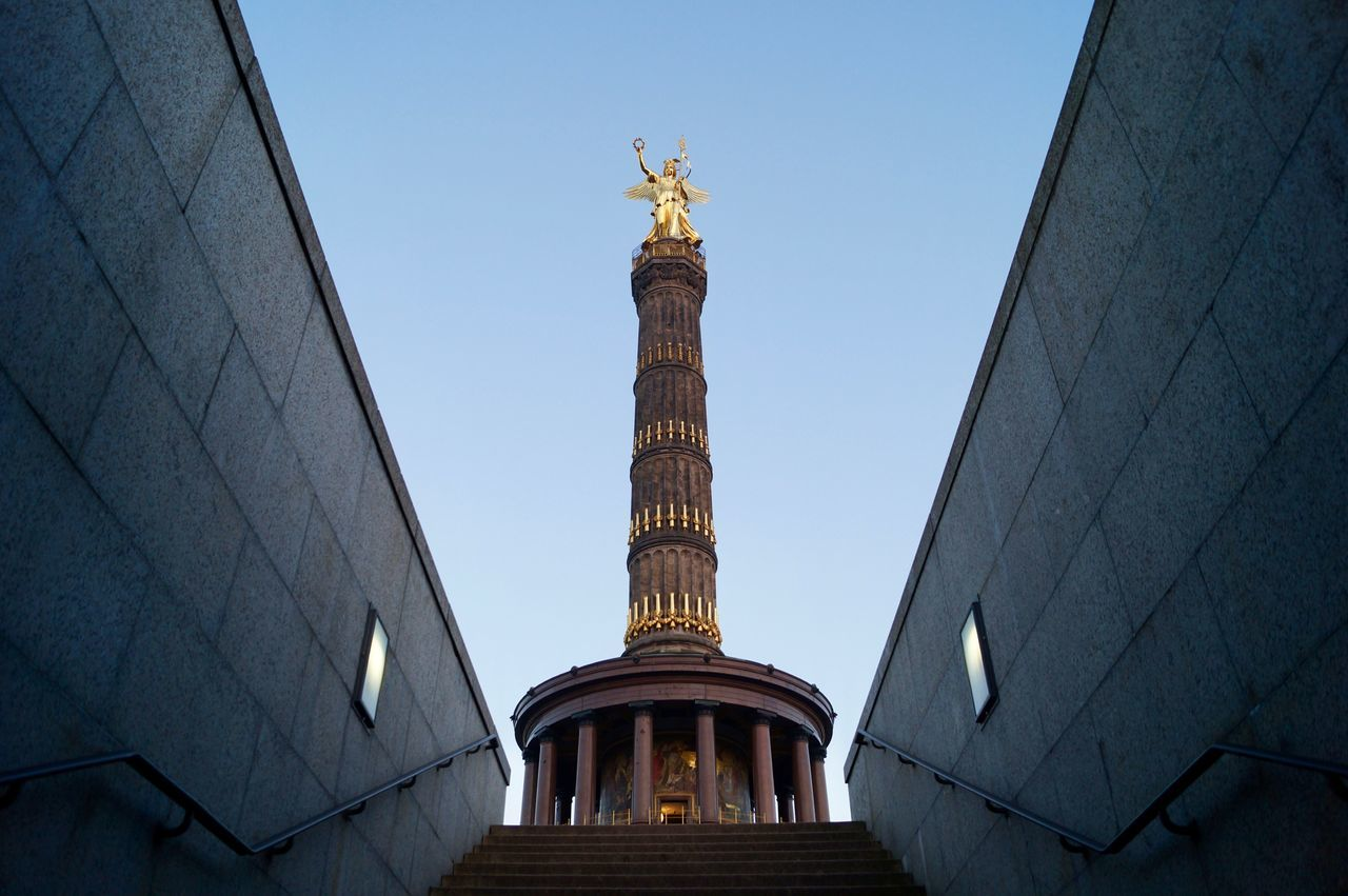 Architecture Architecture Berlin City Cultures Day EyeEmNewHere Gold Gold Colored No People Outdoors Place Of Worship Religion Royalty Siegessäule  Sky Travel Urban Victorycolumn