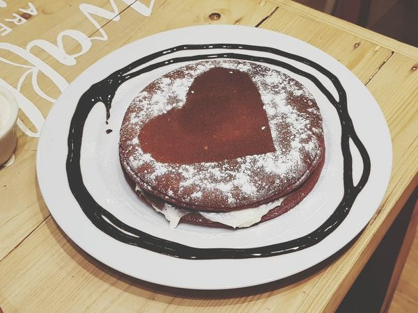 Happy Valentines Day! Indoors  Plate Food And Drink Table Indulgence Sweet Food No People
