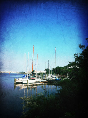 boats at Papa John's Pizza by Kimberly Wolfe