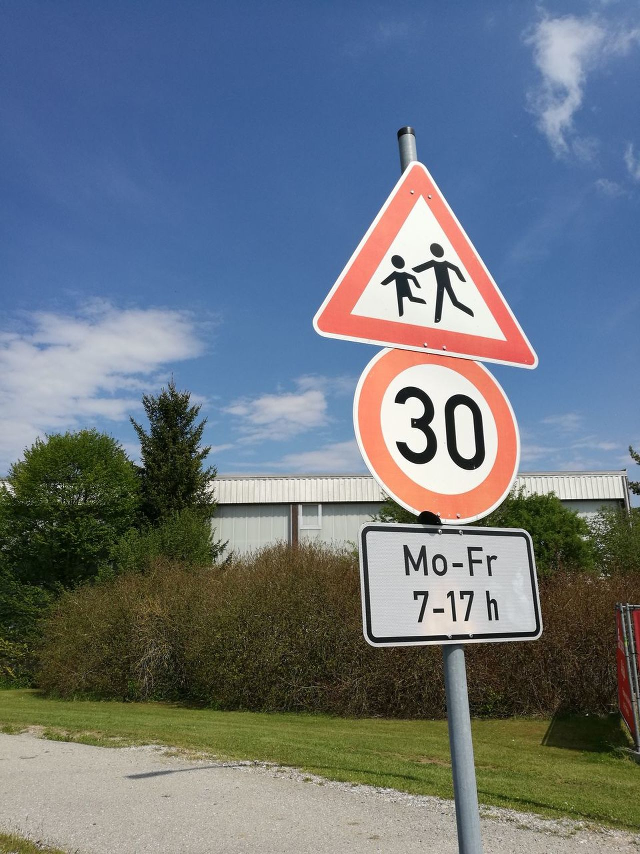 Cloud - Sky Communication Day No People Number Outdoors Road Road Sign Sky Speed Limit Sign Text Tree Triangle Shape