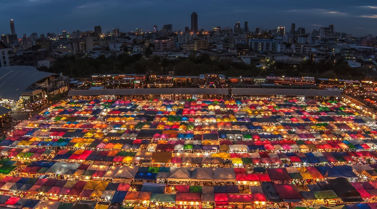 Thailand Bangkok Nightphotography City Night Market ASIA Asean Colors
