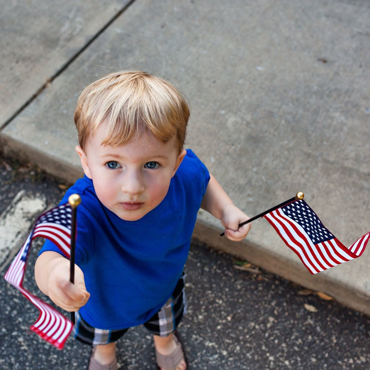 Beautiful stock photos of memorial day, American Flag, Blond Hair, Boys, Casual Clothing