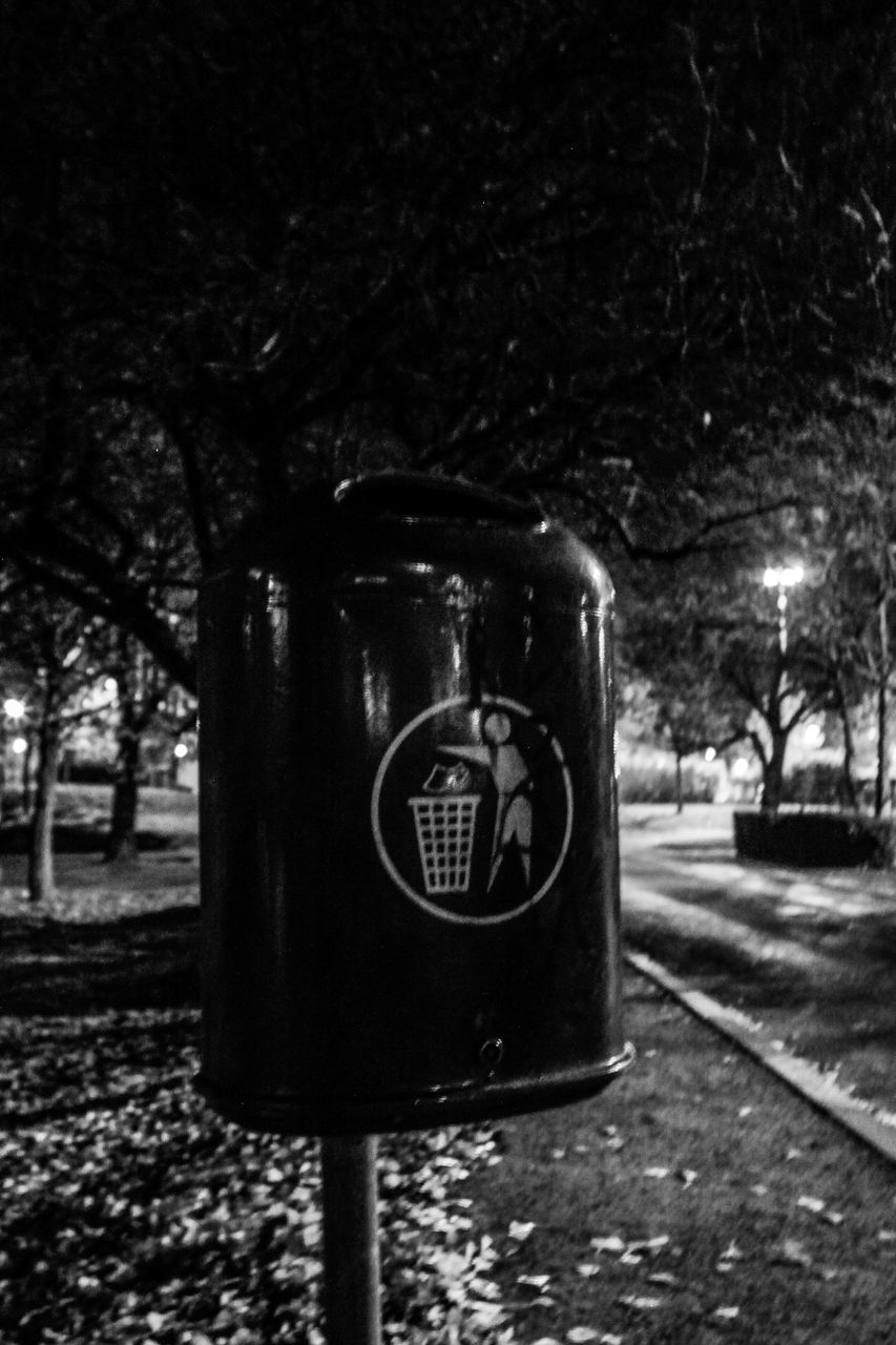 tree, night, communication, outdoors, telephone booth, telephone, pay phone, no people, close-up, nature, sky