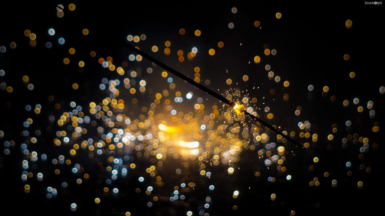 1360*768 Bokeh Dance Of Lights Diwali Fireworks Lights Lights All Around Shadows Shadowsbyanimesh Sparkling Light Wallpaper