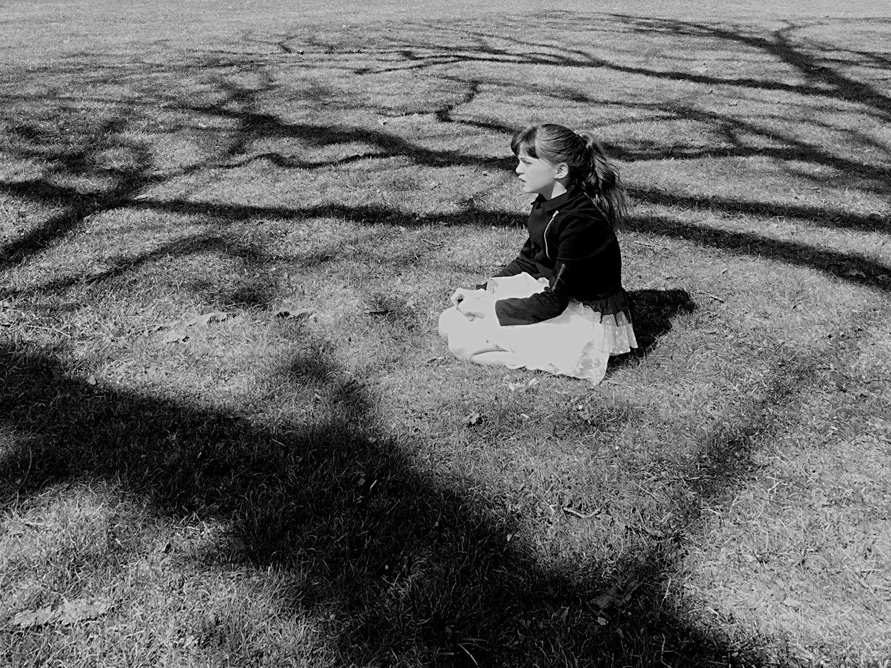 Childhood Outdoors Real People Day Playing Leisure Activity Shades Of Grey Shadows & Lights