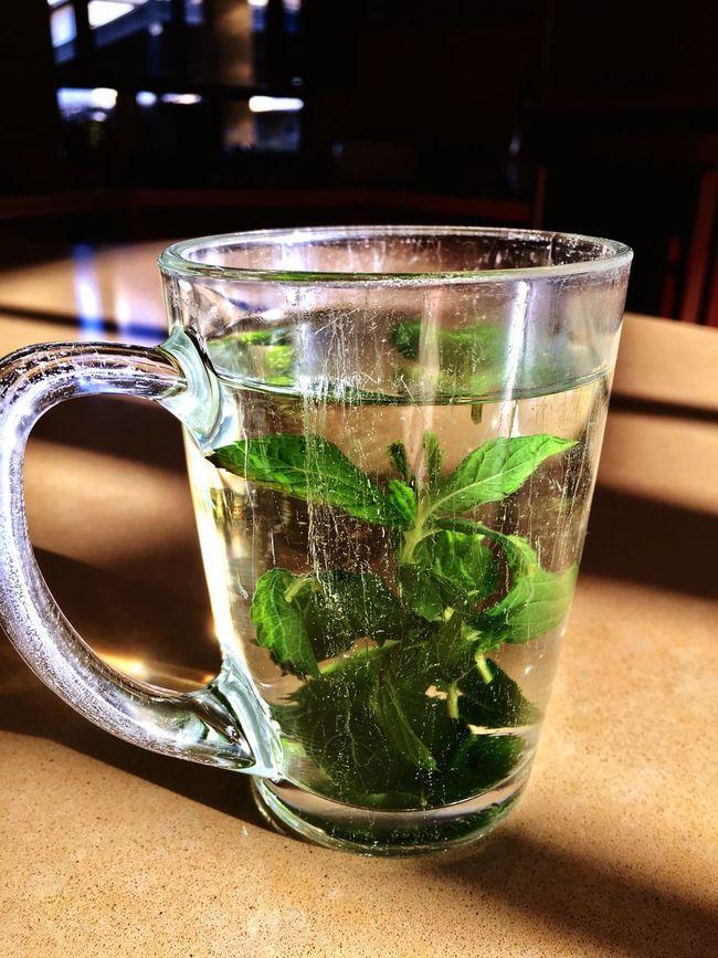 Good Morning Tea Teatime Mint Tuesdaymorning IPhoneography Sweet Green Hot Water Drink Tee Minze