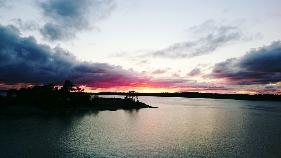 Sweden Summer2015 Sunset Lake View Campinglife Amazing View