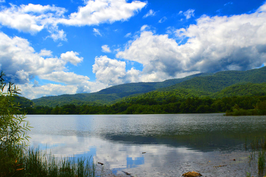 Beauty In Nature Calm Caryville Tennessee Cloud Cloud - Sky Cloudy Colour Of Life Cove Lake State Park Idyllic Lake Lakeshore Landscape Mountain Mountain Range Nature Outdoors Reflection Sky Summer 2016 Tranquil Scene Tranquility Water