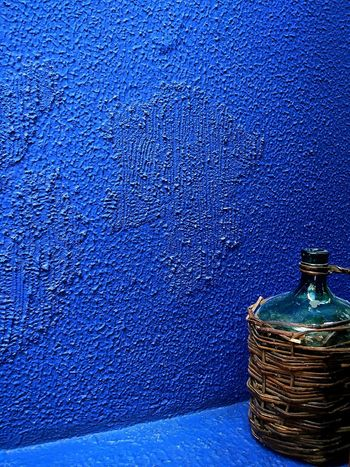 Textured  Blue No People Backgrounds Outdoors Day Close-up Bottle Minimal