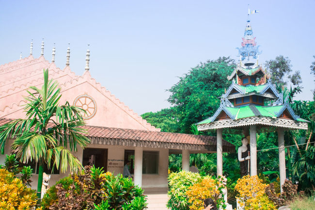Architecture Building Exterior Built Structure Clear Sky Culture Day History Outdoors Religion Roof Temple Tower Seeing The Sights Kuakata Bangladesh