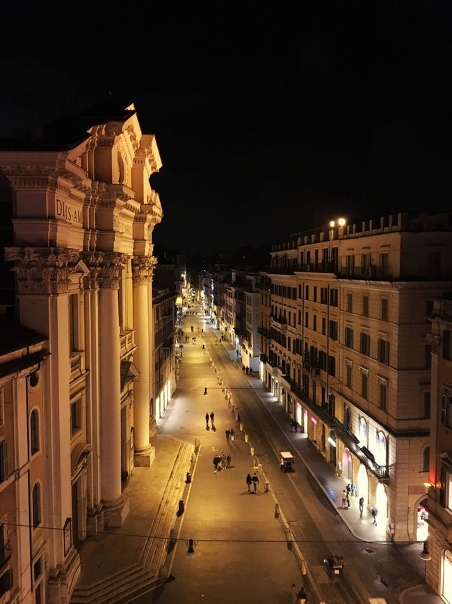 View From The Top Rome By Night & Architecture Details Romantic Mood