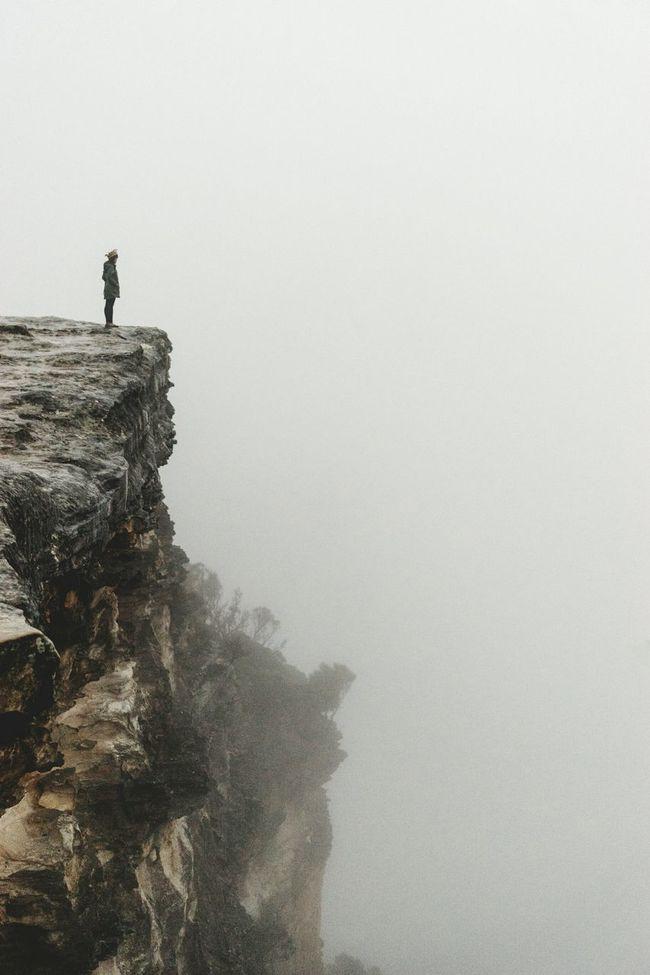Twistdee ar flat rock on a foggy day. Foggy Fog Bluemountains Flatrock