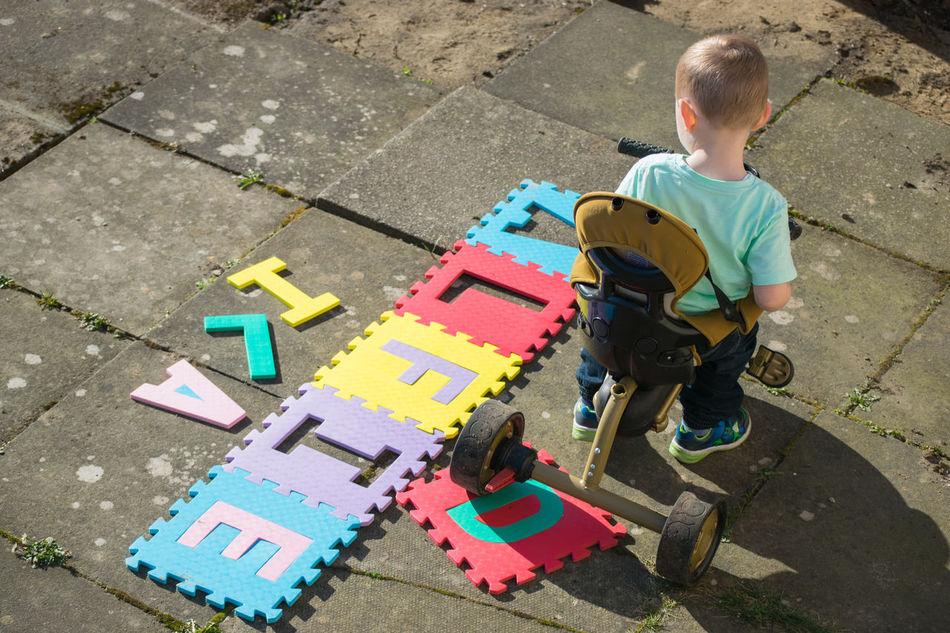 Beautiful stock photos of alphabet, 2-3 Years, Alphabet, Arrangement, Boys