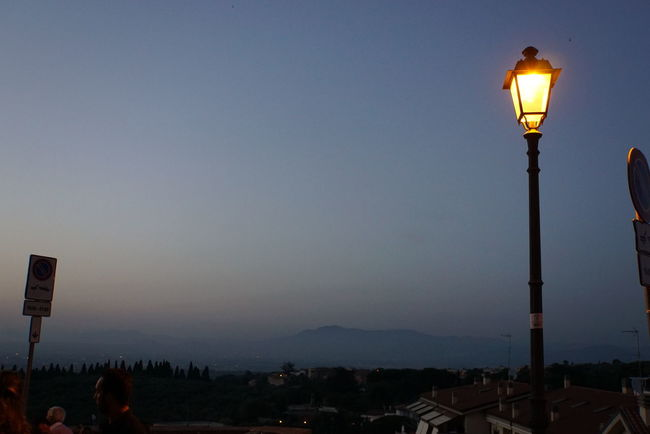 view over the city of Rome Clear Sky Dusk Electric Light Electricity  Golden Hour Illuminated Lamp Post Landscape Lighting Equipment Mountain Mountain Peak Mountain Range Observation Point Outdoors Rome Scenics Street Light Summer Night Tivoli Tranquil Scene Tranquility Vacations
