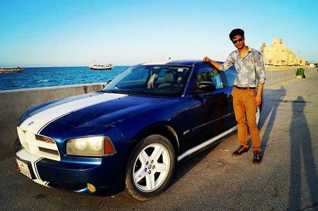 Sunset Beast Dodgecharger Corniche Dohaqatar Oldtyme