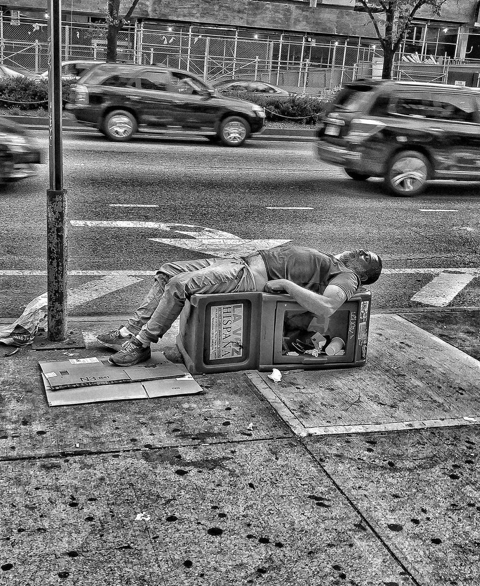 Out For The Count Real People Day Land Vehicle Street Transportation Lifestyles Outdoors One Person Men Low Section City People