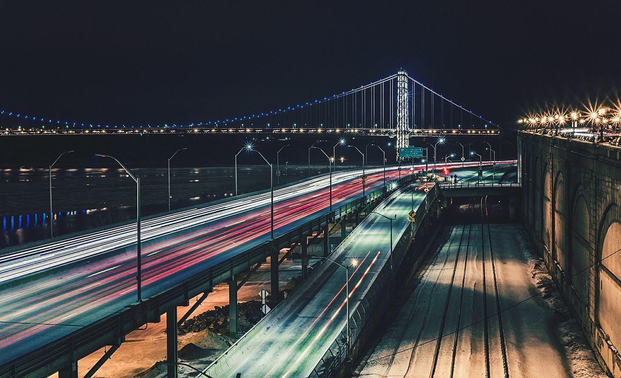 Beautiful stock photos of night, Bridge, Bridge - Man Made Structure, Building Exterior, Built Structure