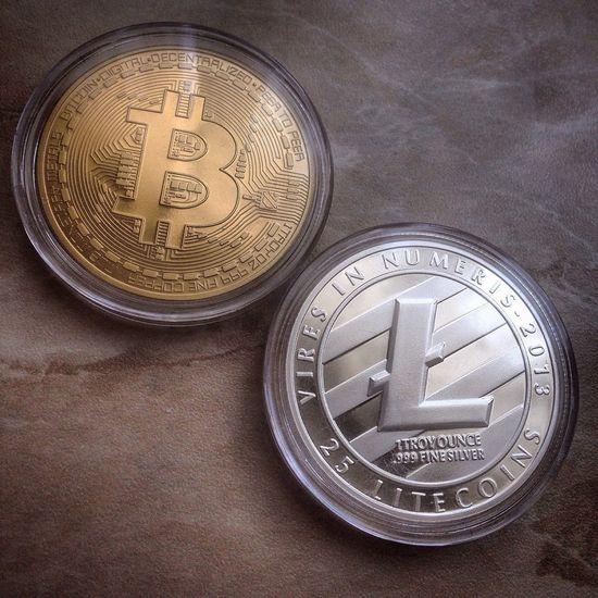 Business Bitcoin Litecoin Coins