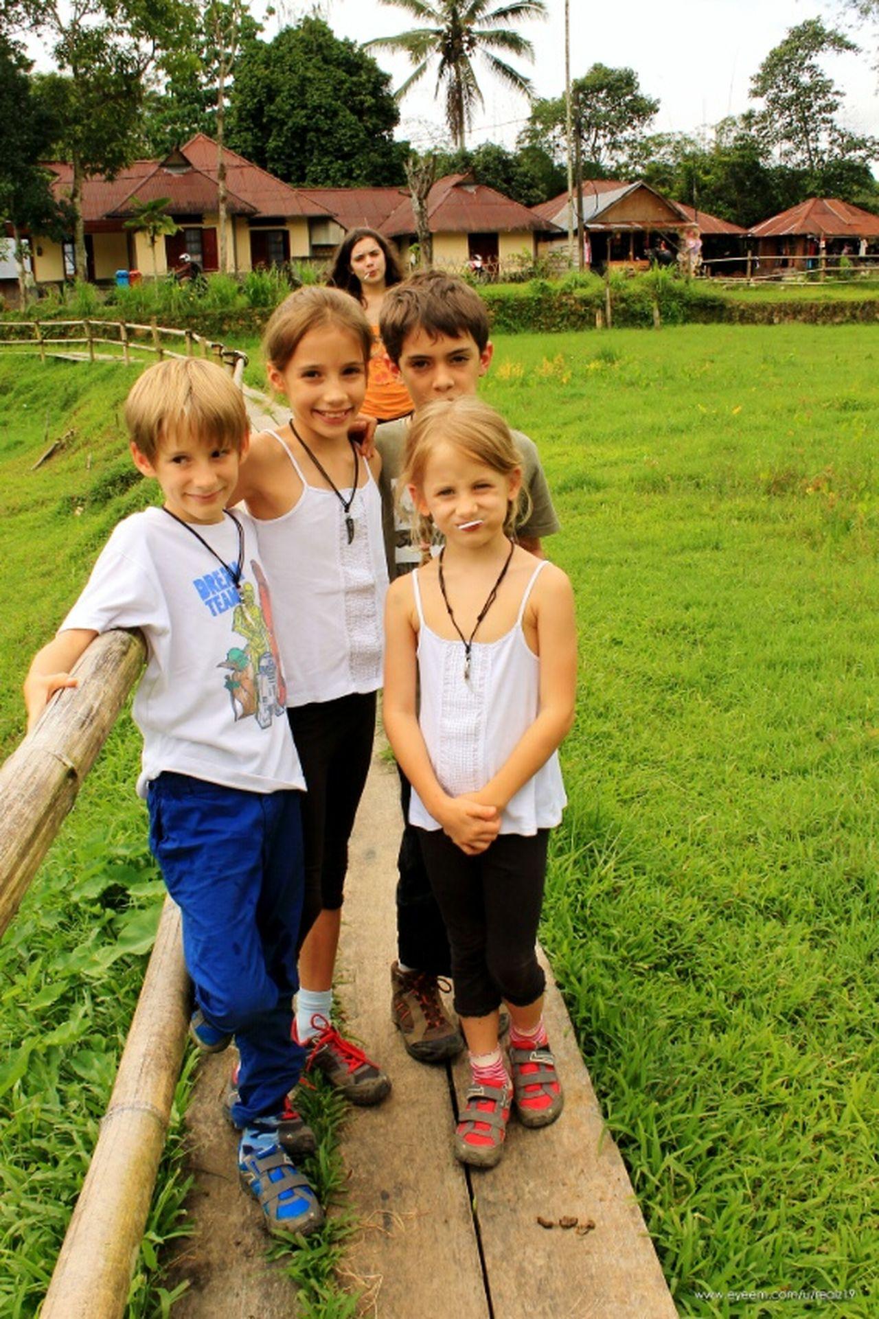 Kids Tourist Green Green Grass Kete Kesu Toraja Utara Rantepao Toraja Travel Destinations Outdoors INDONESIA
