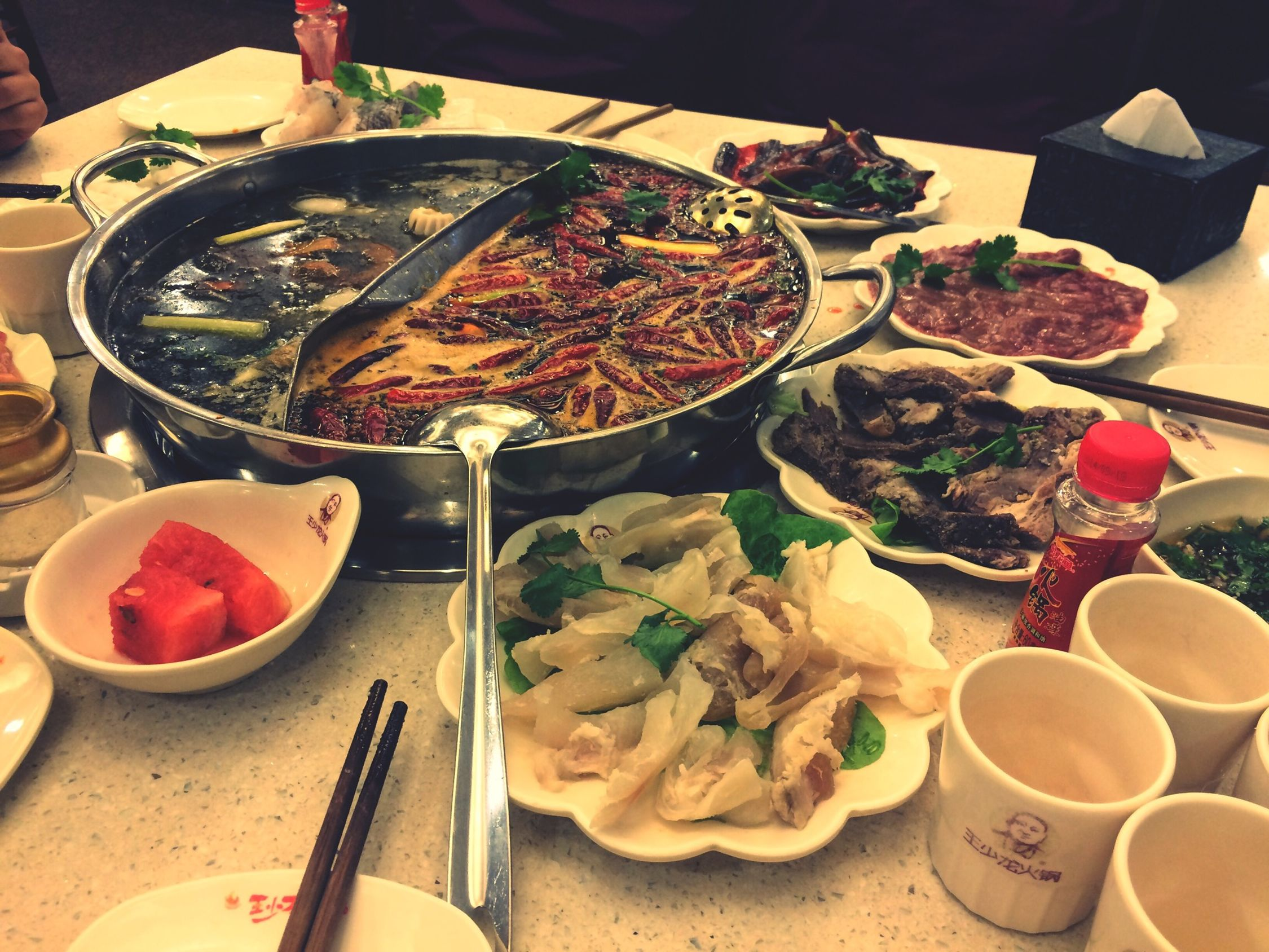 Chafing Dish Spicy Delicious Friends Weekend