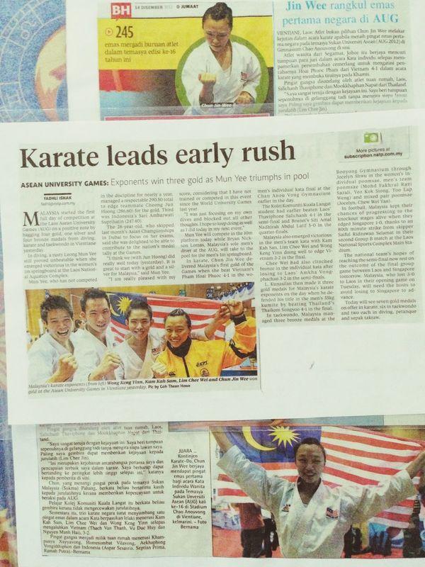 Karate Asian University Game Gold Gold Medal Oh! Yeah!!!!
